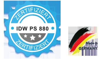 IDW PS 880 zertifiziert
